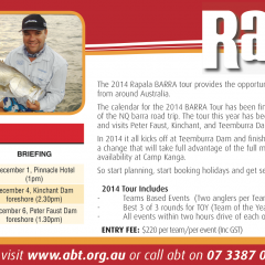 2014 Rapala BARRA Tour – It's not too late to enter!